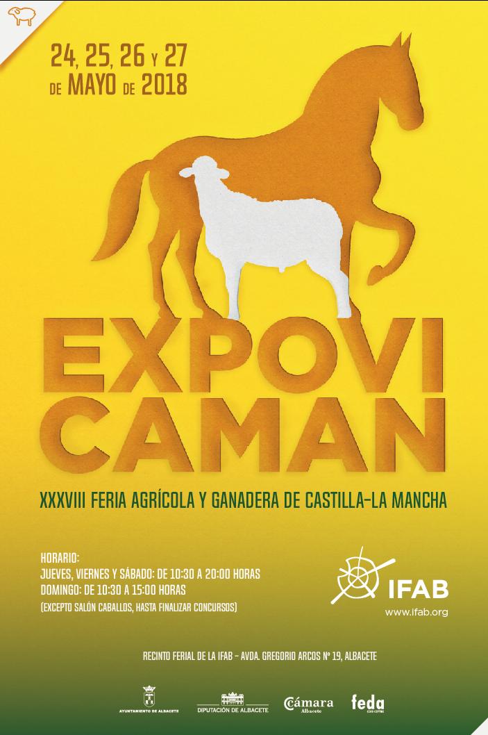 Cartel Expovicaman, feria agrícola y ganadera de Castilla-La Mancha