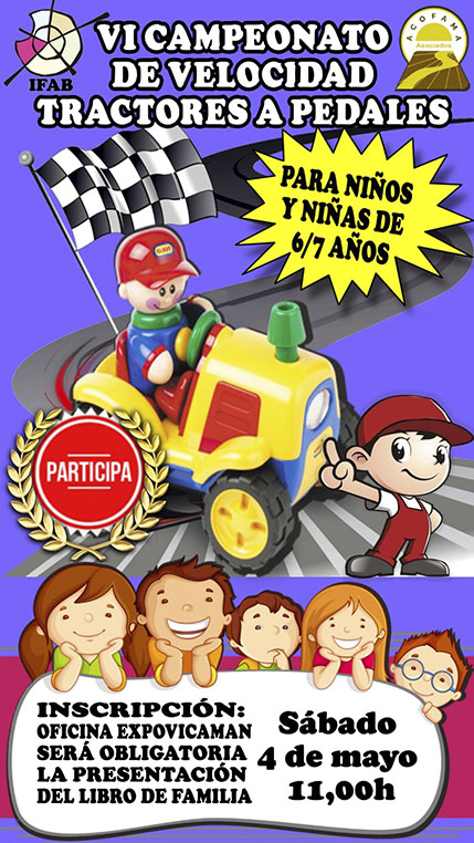 VI Campeonato de Velocidad de Tractores a Pedales